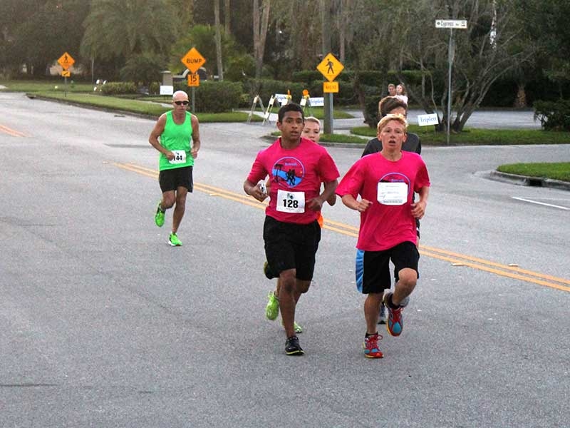 Runners enjoyed early fall temperatures in the 2014 5K