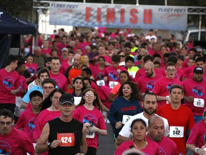 Start of the 2014 Sanford Riverwalk 5K